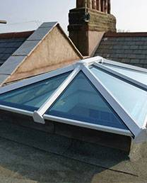 New skylight window installation
