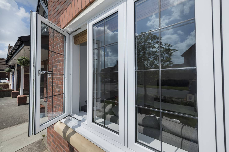 New window installation with open window